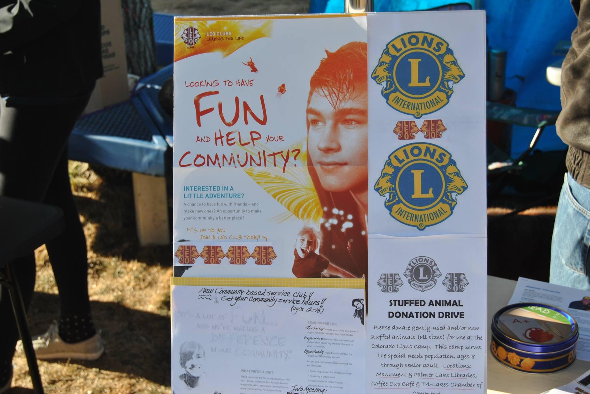 Tri-Lakes Lions LEO Club Flyer